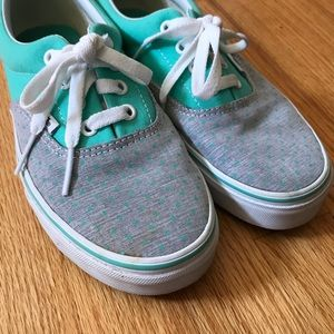 Mint Gray Polka Dot Vans